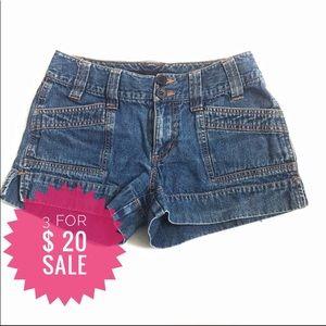 Nevada medium wash button front shorts Sz 6